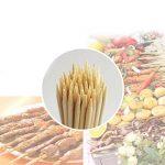 Cosmall @ 200x brochettes de bambou pour barbecue kebab Fruits à chocolat Bâtons en bois 30cm de la marque COSMALL image 1 produit