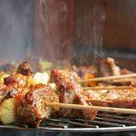Cosmall @ 200x brochettes de bambou pour barbecue kebab Fruits à chocolat Bâtons en bois 30cm de la marque COSMALL image 3 produit