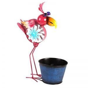 Country Living Moulin à vent en métal Bird Pot de fleurs Rose de la marque Widdop image 0 produit
