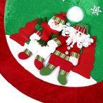 [Couvre-Pied de Sapin] Ohuhu® 89cm Jupe de l'arbre/Cache Pied Jupe/Couvre-Pied de Sapin/ Cache Pied Sapin de Motif Noël Père Noël et Renne pour Décoration de Noël de la marque Ohuhu image 3 produit