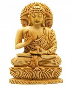 Craftvatika Statue de Bouddha Assis en Bois Sculpté à la Main de la marque CraftVatika image 0 produit