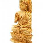 Craftvatika Statue de Bouddha Assis en Bois Sculpté à la Main de la marque CraftVatika image 1 produit