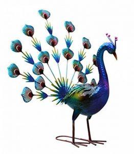 Creekwood 48055Peacock Bird Statue Ornement 58cm de Hauteur, Bleu, 40x 51x 58cm de la marque Creekwood image 0 produit
