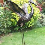 Creekwood 48063Grande Grue Oiseau Statue Ornement 103cm Height-wings Up, Bronze, 57x 99x 103cm de la marque Creekwood image 2 produit
