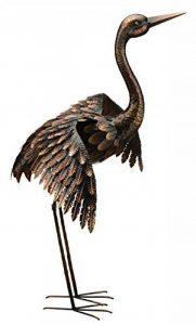 Creekwood 48064Grande Grue Oiseau Statue Ornement 113cm Height-wings vers le bas, Bronze, 53x 94x 113cm de la marque Creekwood image 0 produit