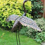 Creekwood 48064Grande Grue Oiseau Statue Ornement 113cm Height-wings vers le bas, Bronze, 53x 94x 113cm de la marque Creekwood image 3 produit