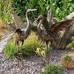 Creekwood 48065Grue Oiseau Statue Ornement 64cm Height-wings Up, Bronze, 27x 45x 64cm de la marque Creekwood image 4 produit