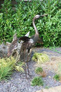 Creekwood 48066Grue Oiseau Statue Ornement 64cm Height-wings vers le bas, Bronze, 39x 44x 64cm de la marque Creekwood image 0 produit
