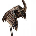 Creekwood 48066Grue Oiseau Statue Ornement 64cm Height-wings vers le bas, Bronze, 39x 44x 64cm de la marque Creekwood image 1 produit