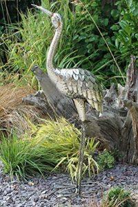 Creekwood 48067Grue Oiseau Statue Ornement 107cm de hauteur, Argent, 15x 49x 107cm de la marque Creekwood image 0 produit