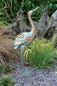 Creekwood 48068Grue Oiseau Statue Ornement 64cm de hauteur, patine, 9x 28x 64cm de la marque Creekwood image 0 produit