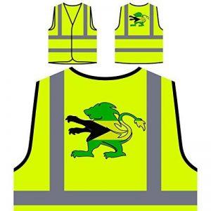Crête du drapeau des Bahamas Veste de protection jaune personnalisée à haute visibilité u598v de la marque INNOGLEN image 0 produit