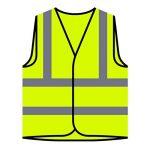 Crête du drapeau des Bahamas Veste de protection jaune personnalisée à haute visibilité u598v de la marque INNOGLEN image 2 produit