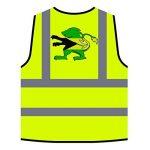 Crête du drapeau des Bahamas Veste de protection jaune personnalisée à haute visibilité u598v de la marque INNOGLEN image 3 produit