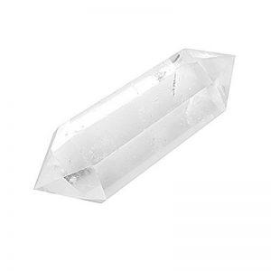 Cristal Naturel Quartz Clair Deux Point Guérison Belle Colonne de Cristal de Quartz Transparent de la marque MagiDeal image 0 produit