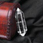 Cristal Naturel Quartz Clair Deux Point Guérison Belle Colonne de Cristal de Quartz Transparent de la marque MagiDeal image 4 produit
