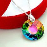 Crystals & Stones *Sun* soleil *Vitrail Medium* Bijoux de boucles d'oreilles et Collier avec cristaux Swarovski - magnifiques Bijoux avec élégant boîte à cadeau de la marque Crystals&Stones image 2 produit