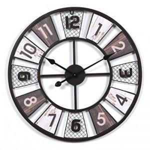 CT-Tribe - Horloge Murale - 23,6Pouces XXXL Horloge Moderne Pendule Silencieuse - En Métal - Décoration de la Maison, Chambre, Salon, Couloir, Café, Bar, Bureau - C180130 de la marque CT-Tribe image 0 produit