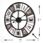 CT-Tribe - Horloge Murale - 23,6Pouces XXXL Horloge Moderne Pendule Silencieuse - En Métal - Décoration de la Maison, Chambre, Salon, Couloir, Café, Bar, Bureau - C180130 de la marque CT-Tribe image 1 produit