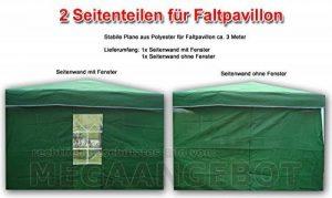 CTZ Vert Pavillon de côtés 1x avec fenêtre + 1x sans fenêtre 2x 3 depuis-Tonnelle de jardin 3x 2m de Green de la marque CTZ image 0 produit