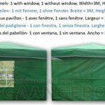 CTZ Vert Pavillon de côtés 1x avec fenêtre + 1x sans fenêtre 2x 3 depuis-Tonnelle de jardin 3x 2m de Green de la marque CTZ image 1 produit