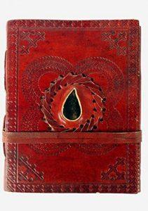Cuir gravé Pierre Drap-housse non doublé Journal Blank Book (6x 4,5x 1–pouce) de la marque Rastogi Handicrafts image 0 produit