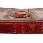 Cuir gravé Pierre Drap-housse non doublé Journal Blank Book (6x 4,5x 1–pouce) de la marque Rastogi Handicrafts image 2 produit