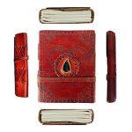 Cuir gravé Pierre Drap-housse non doublé Journal Blank Book (6x 4,5x 1–pouce) de la marque Rastogi Handicrafts image 4 produit