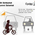 Cycley Premium Barre fanion fanion de sécurité pour vélo d'enfant pliable pour vélo avec une hauteur de sécurité de 160cm de la marque Cycley image 4 produit