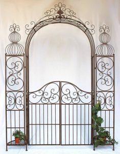 DanDiBo Ambiente 120853 Arche à roses en fer forgé avec portail 265 x 190 cm de la marque DanDiBo Ambiente image 0 produit
