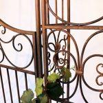 DanDiBo Ambiente 120853 Arche à roses en fer forgé avec portail 265 x 190 cm de la marque DanDiBo Ambiente image 6 produit