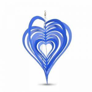Déco Jardin Mobile à Vent Coeur Décoration Virevoltante Bleue. de la marque Gardens2you image 0 produit