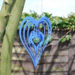 Déco Jardin Mobile à Vent Coeur Décoration Virevoltante Bleue. de la marque Gardens2you image 2 produit