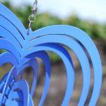 Déco Jardin Mobile à Vent Coeur Décoration Virevoltante Bleue. de la marque Gardens2you image 3 produit