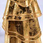 déco sapin de Noël tôle Or, H:41cm, avec étoile, Ø : env. 16 cm, métal avec véritable feuille d'OR de la marque E+N Deko image 1 produit