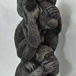 Décoration – 3 petits singes en pyramide (Singes de la sagesse), en pierre reconstituée, importé de Thaïlande (10257) de la marque Wilai GmbH image 1 produit
