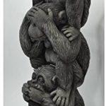 Décoration – 3 petits singes en pyramide (Singes de la sagesse), en pierre reconstituée, importé de Thaïlande (10257) de la marque Wilai GmbH image 4 produit