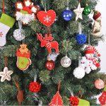 Décorations de Noël XingYu-XY Pendentif en sapin de Noël, Pendentifs cadeaux [6PCS] (13cm/5inch, Rouge + Blanc) de la marque XingYu-XY image 2 produit