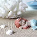 Décorations pour terrarium et jardin féérique miniature: adorable bébé sirène et résine de la marque HomeFairy image 3 produit