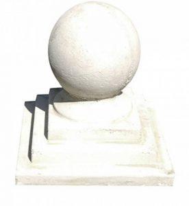 Deco Granit Boule en pierre reconstituée avec socle carré de la marque Deco Granit image 0 produit