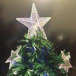 DECO NOEL - Sapin de Noël artificiel en fibre optique + 18 étoiles lumineuses - livré avec son pied- Hauteur 120 cm - Coloris VERT de la marque FEERIC LIGHTS & CHRISTMAS image 3 produit
