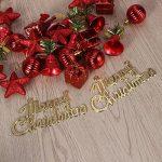 Deco Sapin de Noel Tinksky 28 Pieces Merry Christmas Étoiles Boules de Noël Cloches de Noël Père Noël Suspension Noel Rouge de la marque Tinksky image 4 produit