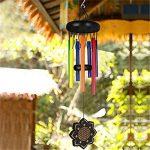 Deerbird Bois Coloré Carillons de vent Et 7 espèces Différentes couleurs Tube en métal Beech Noir Revêtement Carillons de vent Jardin Terrasse Balcon et Décoration extérieure de la marque Deerbird® image 5 produit