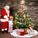 Deggodech Doux Peluche Arbre de Noël Jupe Blanc Neige Décorations d'arbre de Noël Tapis Vacances Couvre Pied Sapin Noel (78cm) de la marque Deggodech image 4 produit