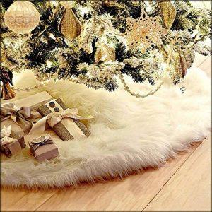 Deggodech Doux Peluche Arbre de Noël Jupe Blanc Neige Décorations d'arbre de Noël Tapis Vacances Couvre Pied Sapin Noel (78cm) de la marque Deggodech image 0 produit