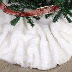 Deggodech Doux Peluche Arbre de Noël Jupe Blanc Neige Décorations d'arbre de Noël Tapis Vacances Couvre Pied Sapin Noel (78cm) de la marque Deggodech image 1 produit