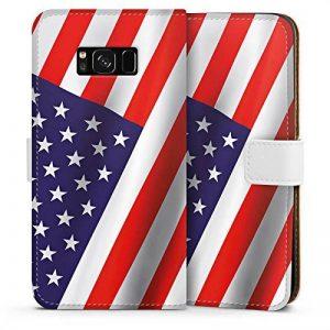DeinDesign Samsung Galaxy S8 Plus Étui flip Housse de Protection Walletcase Bookstyle Usa Drapeau Amérique Drapeau de la marque DeinDesign image 0 produit