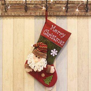 Deluxe Chaussette de Noël faite à la main Bonhomme de neige et Père Noël sapin de Noël Chaussette Sac à suspendre Cadeau Chaussettes Décoration de Noël (Bonhomme de neige et Père Noël) 48,3 cm de la marque Touch China image 0 produit