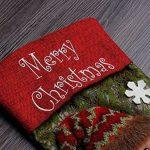 Deluxe Chaussette de Noël faite à la main Bonhomme de neige et Père Noël sapin de Noël Chaussette Sac à suspendre Cadeau Chaussettes Décoration de Noël (Bonhomme de neige et Père Noël) 48,3 cm de la marque Touch China image 2 produit