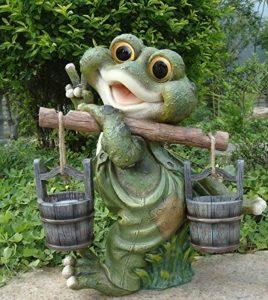 Design 1 grenouille XXL 40 cm décoration de jardin, nain de jardin, personnage déco de la marque GMMH image 0 produit